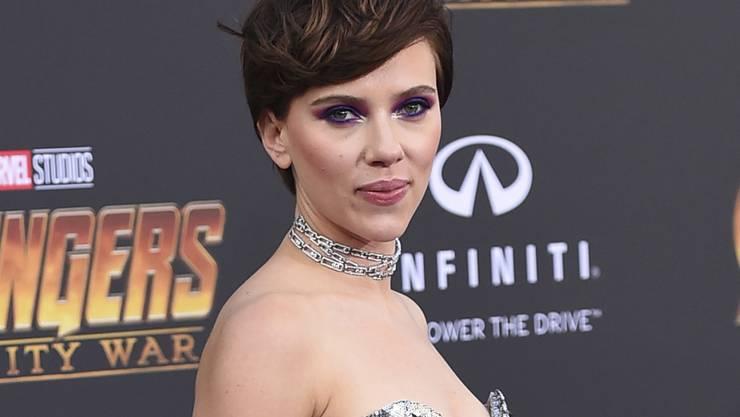 """Die US-Schauspielerin Scarlett Johansson steht auf Platz Eins der Top-Verdienerinnen in Hollywood. Vor allem Dank ihrer Rolle als Superheldin Black Widow in den """"Avengers""""-Filmen kam sie im letzten Jahr auf 40,5 Millionen Dollar. (Archiv)"""
