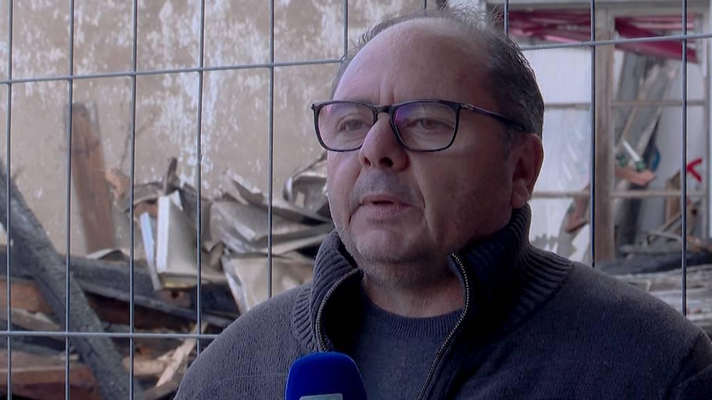 Brand in Höri: Rocco Billos Kaffee-Lager ist nur noch Schutt und Asche