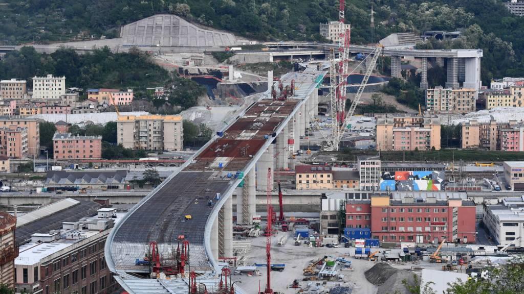 Struktur der neuen Brücke von Genua ist fertig