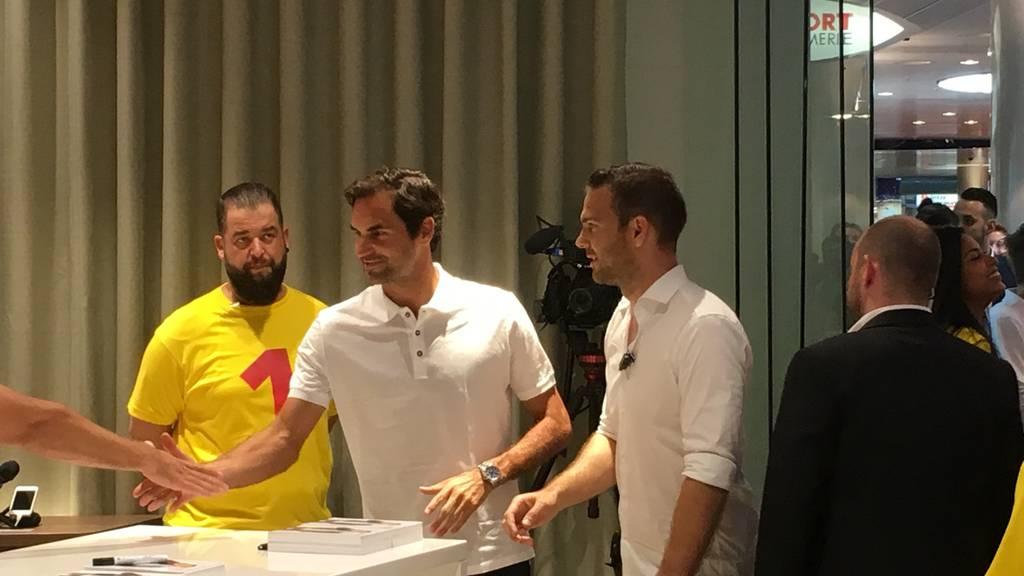 Roger Federer hautnah