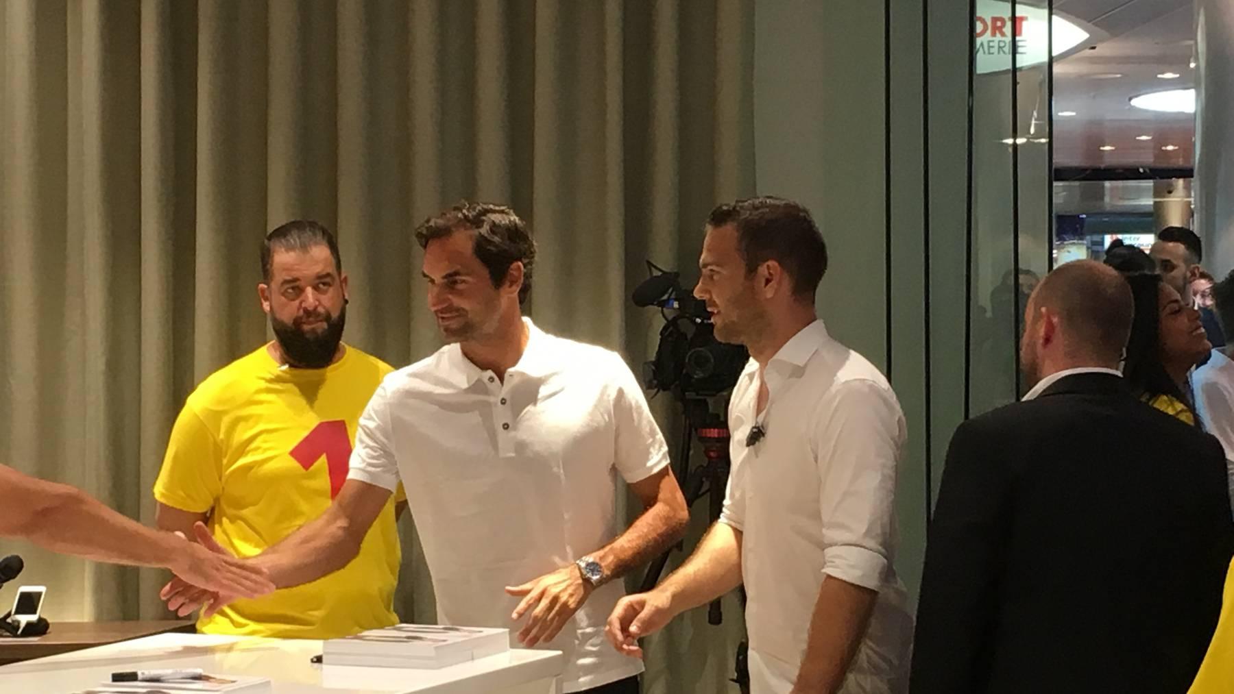 Roger Federer im Shoppi Tivoli Spreitenbach