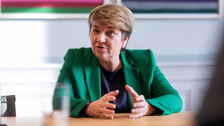 Das «C» im Namen ihrer Partei spielt für sie keine Rolle: CVP-Bundesrätin Viola Amherd  beim Interview im Bundeshaus Ost.