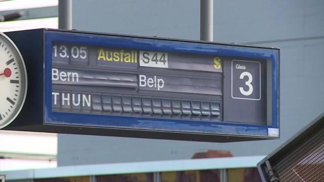 Bahnverkehr rund um Bern lahmgelegt