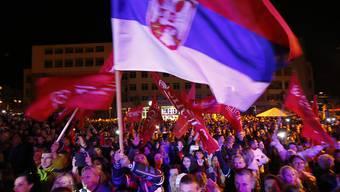 Siegesfeiern in Pale nach der illegalen Volksabstimmung