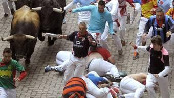 Stierhatz in Pamplona: Es ist mit weiteren Verletzten zu rechnen