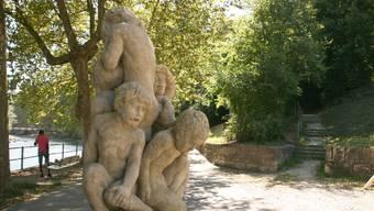 Das vielleicht bekannteste Kunstwerk Badens: Hans Trudels Tränenbrünneli.