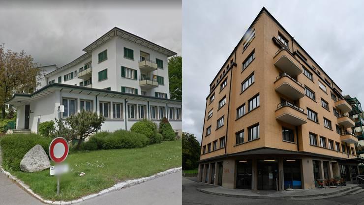 Der Polizeiposten an der Solothurnstrasse 65 und das ehemalige SWG-Gebäude.