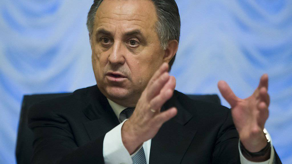 Russlands Sportminister Witali Mutko erklärt seinen Standpunkt