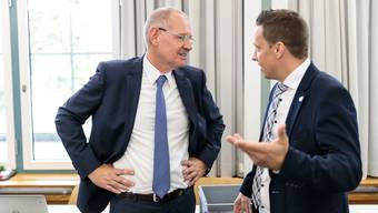 National-und Ständeratswahlen 2019: v.l Ständeratskandidat Stefan Nünlist (FDP), Christian Imark (SVP)