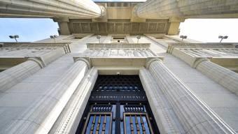 Eingang zum Bundesgericht in Lausanne.