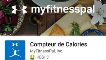Beim Zugriff auf die Fitness-App MyFitnessPal erbeuteten Hacker unter anderem Nutzernamen und E-Mailadressen von gegen 150 Millionen Kunden. (Screenshot)