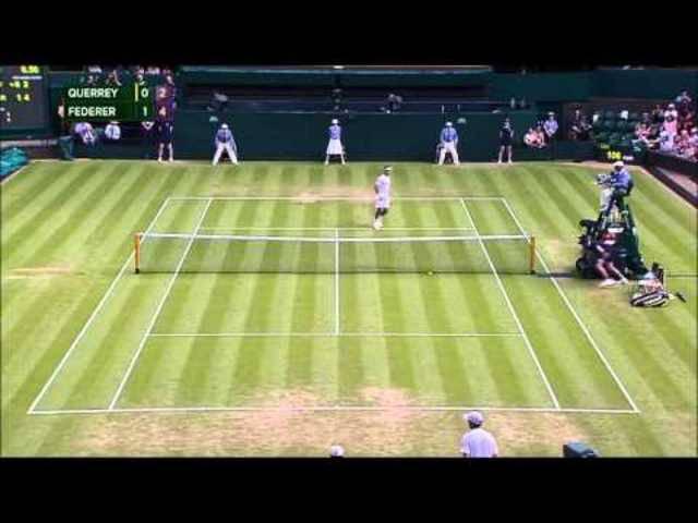Roger Federers Tweener-Lob gegen Sam Querrey in der zweiten Runde von Wimbledon 2015
