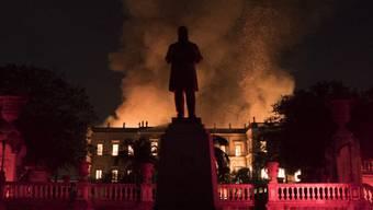 Ein Grossbrand wütet im brasilianischen Nationalmuseum in Rio de Janeiro.