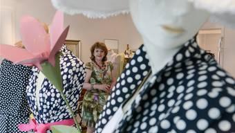 Brigitte Ditzler in ihrem Haute-Couture-Geschäft in der Spalenvorstadt.