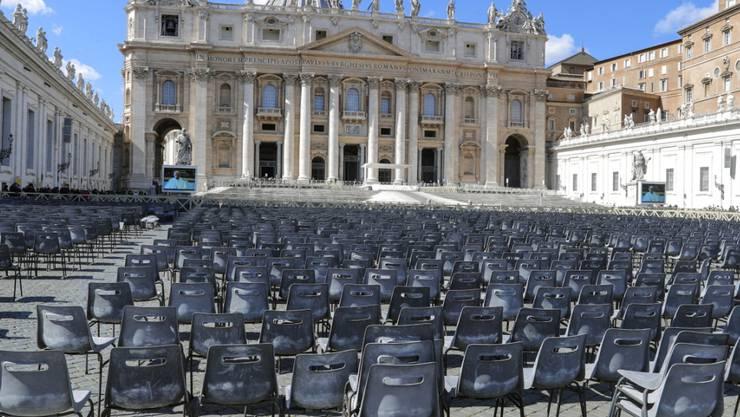 So wird der Petersplatz im Vatikan auch an Ostern aussehen: Papst Franziskus zelebriert die Feierlichkeiten unter Ausschluss der Gläubigen.
