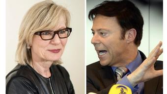 SP-Regierungsrätin Regine Aeppli und SVP-Nationalrat Christoph Mörgeli.