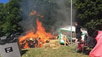 Feuer am Openair St.Gallen