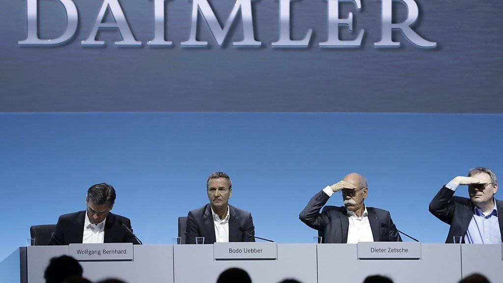 Daimler-Finanzchef Bodo Uebber will mit Rückzug Platz machen. (Archiv)