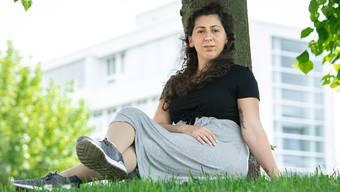 Die gebürtige Türkin Funda Yilmaz besitzt nun endlich den Schweizerpass. Jetzt kandidiert sie für den Nationalrat. Aufgenommen am 24. Mai 2019 in Aarau.
