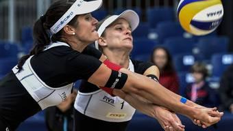 Heidrich (links) und Nadine Zumkehr im Viertelfinal gestoppt
