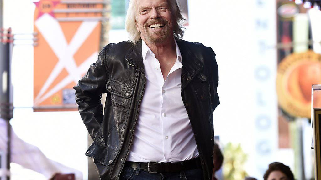 Der britische Milliardär Richard Branson will seine Weltraumtourismus-Firma Virgin Galactic in der zweiten Jahreshälfte 2019 an die Börse bringen. (Archiv)