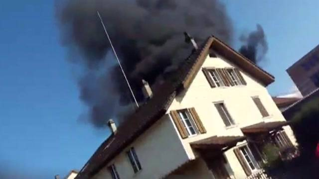 Mehrere Explosionen bei Grossbrand in Olten