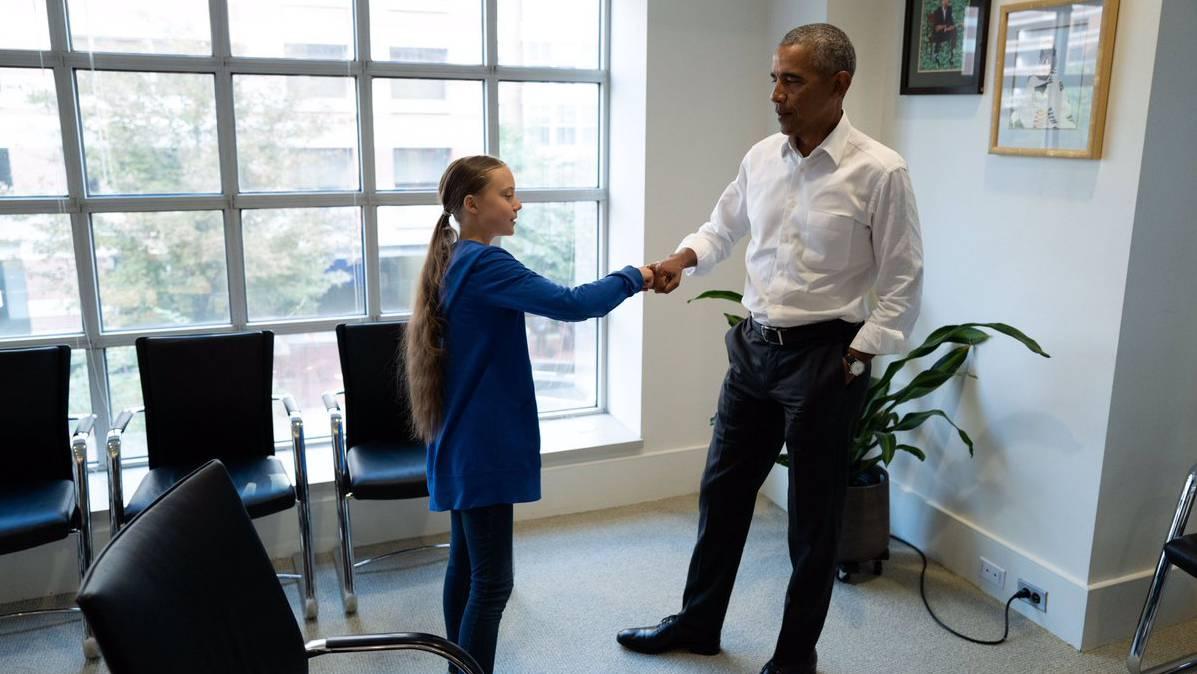 Greta und Obama