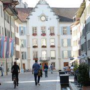 Blick auf das Aarauer Rathaus.