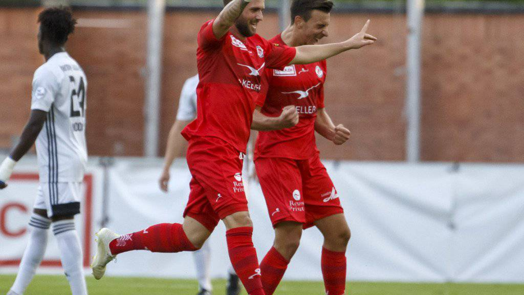 Jubelnder Doppel-Torschütze: Luka Sliskovic schoss Winterthur zum ersten Saisonsieg