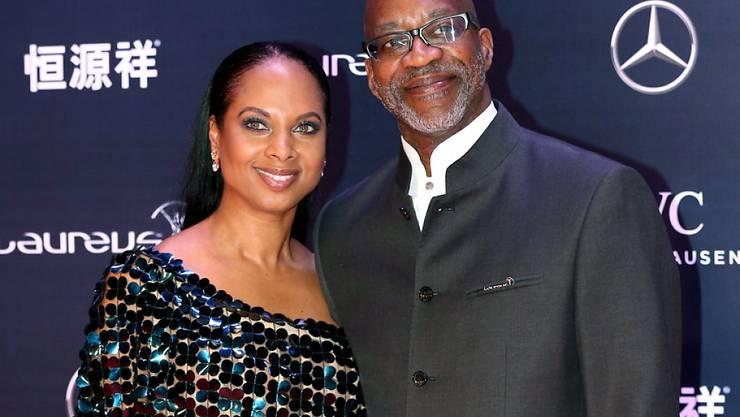 Laureus-Präsident Moses mit Gattin Michelle