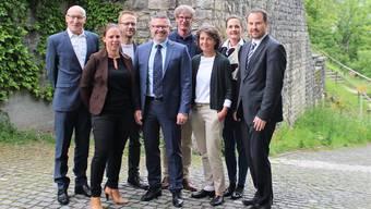 Der Verwaltungsrat (v. l.): Peter Lüssi, Sarah Niederer, Roland Keil, Karsten Bugmann (Präsident), Jürg Baur, Rebekka Hansmann (Geschäftsführerin Spitex Region Brugg AG), Monique Rotzer und Tobias Kull.