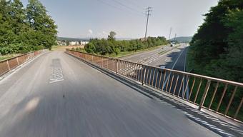 Die A1-Brücke der Katzenbühlstrasse in Kölliken.