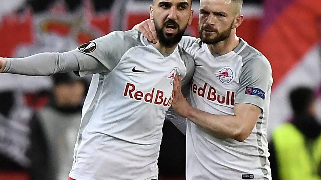 Munas Dabbur (links) wird ab der kommenden Saison in der spanischen Liga jubeln