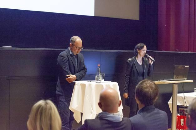 Das Co-Präsidum des Gewerbe Olten mit Andreas Jäggi (links) und Daniela Gaiotto.