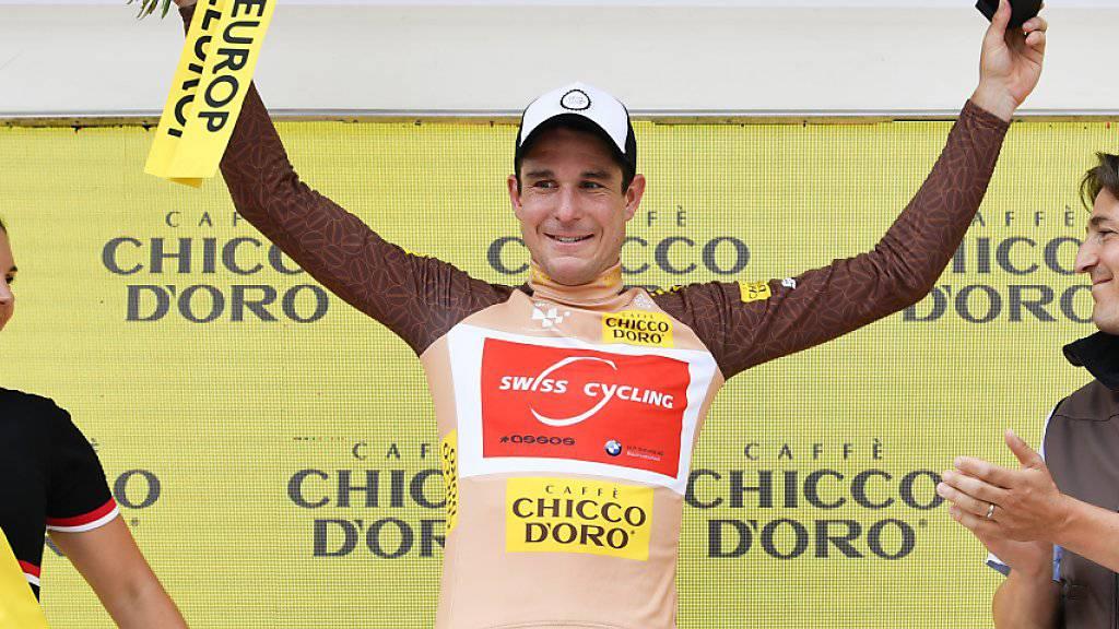 Eindrückliche Parforce-Leistung: An der Tour de Suisse trug Claudio Imhof bis drei Etappen vor Schluss das Bergpreis-Trikot, wenige Tage später trumpfte er in Minsk an den Europa-Spielen mit zwei Bronzemedaillen auf der Bahn auf