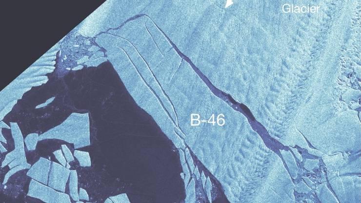 Der vom Pine-Island-Gletscher abgebrochene Eisberg (B-46) ist über 200 Quadratkilometer gross.