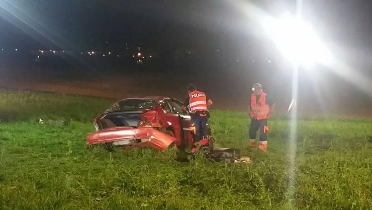 Am Samstagabend verlor eine Autolenkerin auf der Autobahn A1 die Kontrolle über ihr Fahrzeug.