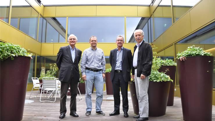 Freuen sich über den guten Start Bruno Letsch, Andreas Grieshaber, Werner Haab, Heinz Pfister (v.l.n.r.).