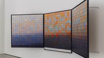 Das Ergebnis einer Landschaft am Computer in 256 Felder aufgelöst und pro Feld alle Pixel zusammengezählt.