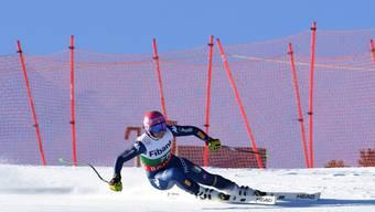 Die Italienerin Elena Curtoni rast zu ihrem ersten Weltcupsieg