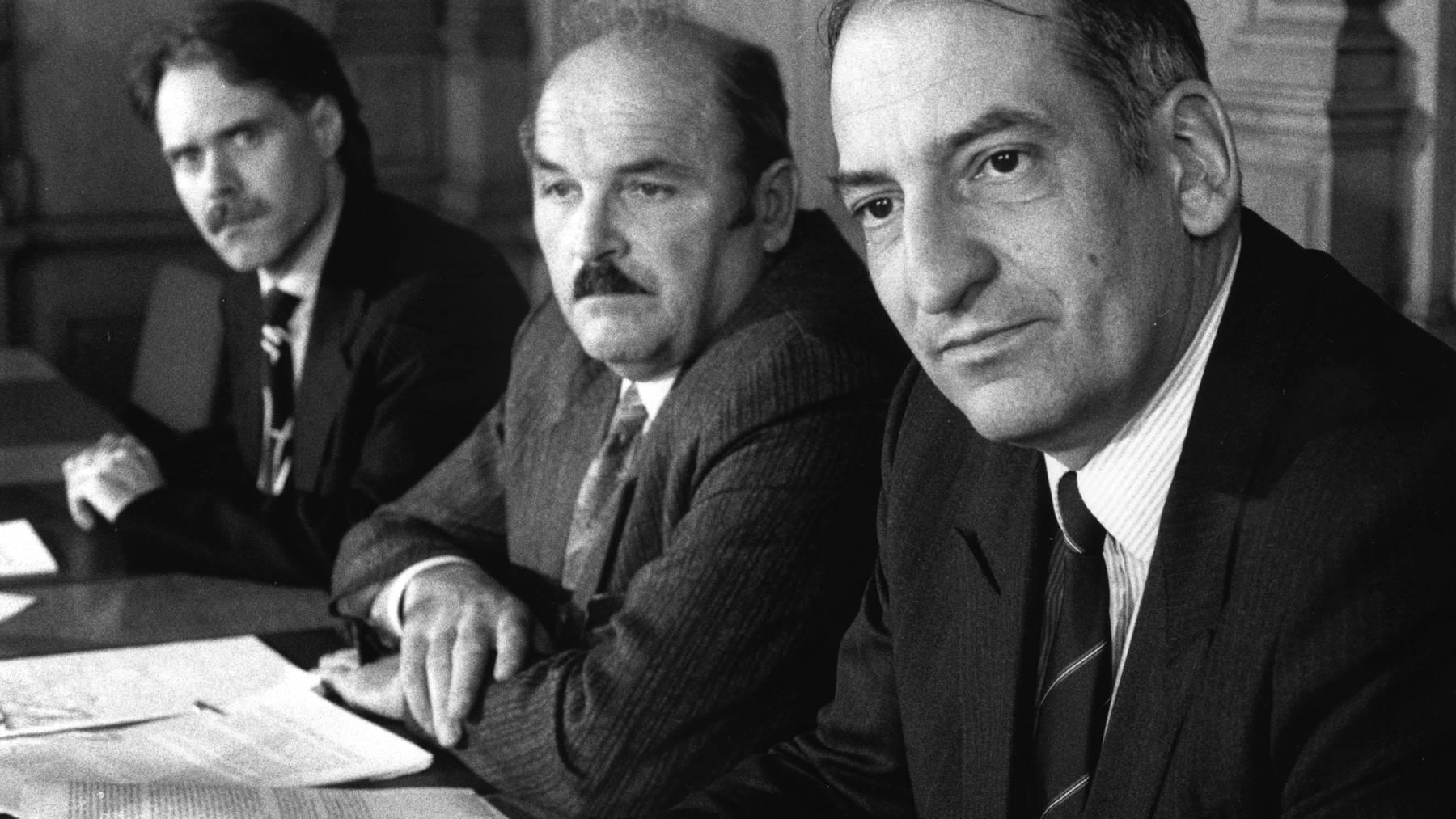 Einflussreicher Bauernvertreter: Paul Rutishauser (in der Mitte) mit Moritz Leuenberger (l.) und Pascal Couchepin (r.).