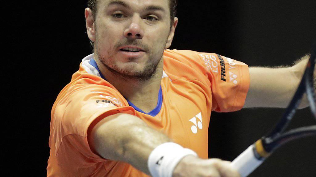 Stan Wawrinka im Aufwind. Zuletzt erreichte der Waadtländer in St. Petersburg die Halbfinals