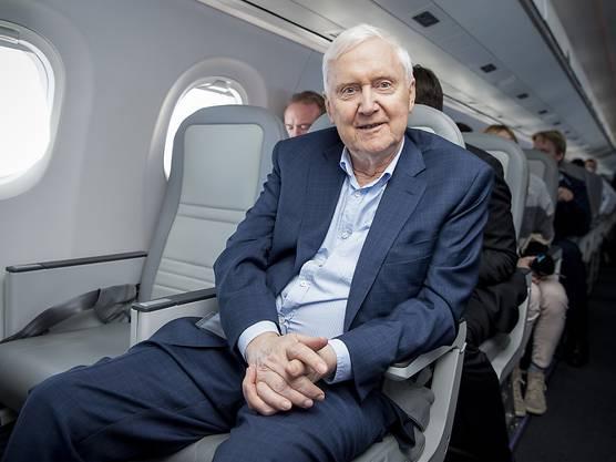 Martin Ebner, Investor und Besitzer der Schweizer Fluggesellschaft Helvetic. (Archivbild)