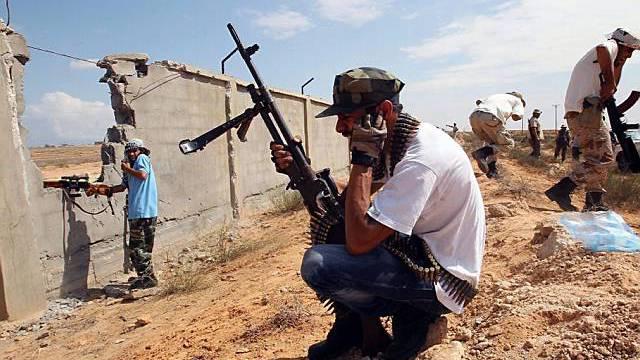 Rebellen in Libyen unweit von Sirte