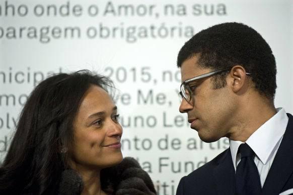 Isabel dos Santos und ihr Mann Sindika Dokolo. (Bild: AP)