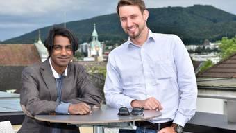 Shanky Wyser (links) und Pascal Geiser machten schon vor über zwanzig Jahren zusammen Musik und spielen nächstes Jahr mit ihrer Band in Dänemark und in den USA.