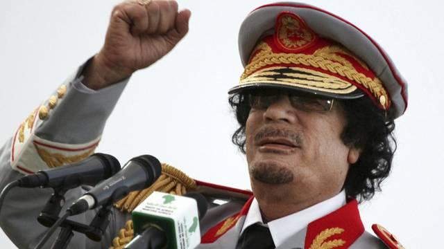 Machthaber und Despot Gaddafi