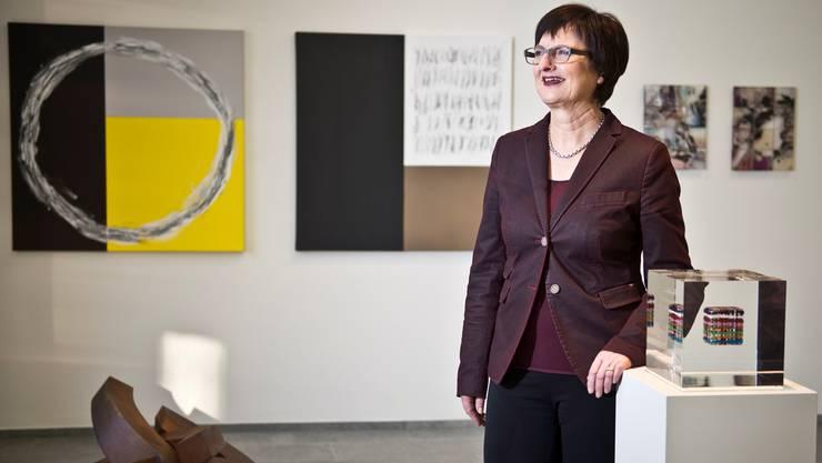 Helene Emmenegger lädt heute zur letzten Vernissage in die Galerie Aquatinta. Annika Bütschi