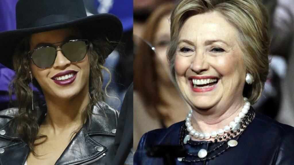 Gute Freundinnen oder clevere Geschäftspartnerinnen? R'n'B-Star Beyoncé und US-Präsidentschaftskandidatin Hillary Clinton haben sich in Los Angeles getroffen. (Archiv)