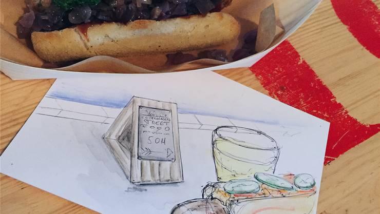 Warum nicht die Mahlzeit als Postkartenmotiv?